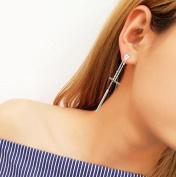 Sterling Silver Earrings Long Silk Tassel Earrings Drop Stardust Earrings for Women and Girl