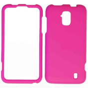 Cell Armour Snap-On Cover for ZTE Z795G - Retail Packaging - Fluorescent Solid Dark Pink