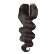 UNICE Hair Brazilian Body Wave Virgin Hair 4x 4 Lace Closure Middle Part Natural Black