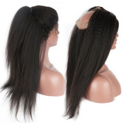 Axin Moon Hair Pre Plucked Kinky Straight 360 Lace Band Frontal Closure Natural Hairline with Baby Hair 360 Lace Virgin Hair Natural Colour