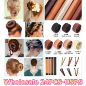 FASCHI Magic Bun Maker Hair Making Styling Tool, French Twist Spiral Curler Disc Donut Doughnuts Updo Chignon Fold Wrap Snap Ponytail Holder Hairstyle Accessories