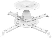 VIVO Universal Articulating Tilt Swivel Heavy Duty Ceiling Projector Theatre Mount White