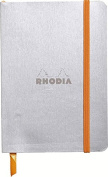 Rhodia Soft Cover Rhodiarama Notebooks, 8.9cm x 14cm (A6), Silver, Lined