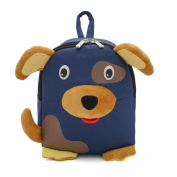 Dorapocket 3D Cute Dog Baby Backpack Toddler Snack Storage Bag Infant Kindergarten Backpack,Dark Blue