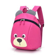 Dorapocket Baby Cute Fashion Bear Backpack Toddler Toy Bag for Boys and Girls,Rose Red