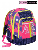 New School Backpack Advanced Seven – Sunflower – Colour Changing – Purple Pink – 30 lt – Reflective inserts