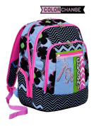 New School Backpack Advanced Seven – Sunflower – Colour Changing – Blue Black Pink – 30 lt – Reflective inserts