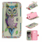 For Samsung Galaxy A3 2017 Case [with Free Screen Protector], Qimmortal(TM) Magnetic Flip Book Style Cover Case ,High Quality Classic Colourful Cool Pattern Design Premium PU Leather Stand Function Folding Magnetic Credit Card Holders Case Cover For Sa ..