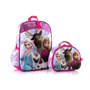Disney Frozen Anna Elsa Olaf Svan Deluxe Classic Designed Kids Gorgeous School Backpack with Detachable Lunch Bag 38cm