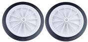 160mm Plastic White Spoked Wheel x 2
