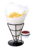 Home-X French Fry Cone & Dipping Cup, French Fries Holder, Appetiser Cone