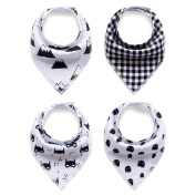 Refosian Unisex Baby Bandana Drool Bibs Pure Cotton Soft and Absorbent