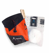 Psychi Premium Chalk Bag Starter Pack for Bouldering Rock Climbing with Waist Belt Chalk Ball and Brush