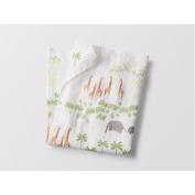 Organic Muslin Swaddling Blanket - Coyuchi - Jungle Print