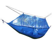 Fabal 2 Person Parachute Hammock Double Wide Solid Outdoor Patio Yard Camping