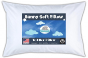 Bunny Soft Pillow Toddler Pillow, White, 14x19