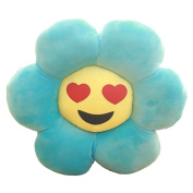 Emoji Pillow Cute Sunflower Smiley Face Pillow Short Velvet Body Pillow Anime Big Round Cushion Bath Pillow Soft Toy 46cm Maternity Pillow Funny Cusion for Baby and Kids Decorative Pillow Drool