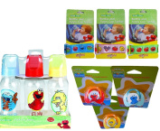 Sesame Street Baby Bottle, Pacifier & Bottle Tether Set