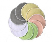 Plcao Organic Washable Bamboo Nursing Pads 10 Pack Reusable Breast Pads Bra pads, Ultra soft Waterproof Hypoallergenic breastfeeding pads