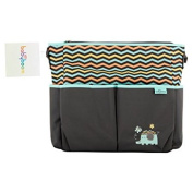 Baby Boom Elephant 8 Pockets Tote Nappy Bag