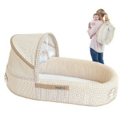 LulyBoo Baby Lounge To-Go Travel Bed in Natural