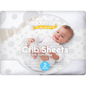2 Pack Baby Crib Sheets | 100% Cotton Nursery Sheet Set | Soft Bedding For Infant Boys & Girls