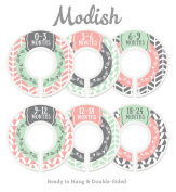 Modish Labels Baby Nursery Closet Dividers, Closet Organisers, Nursery Decor, Baby Girl, Woodland, Arrow, Tribal, Pink, Mint, Grey