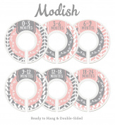 Modish Labels Baby Nursery Closet Dividers, Closet Organisers, Nursery Decor, Baby Girl, Woodland, Arrow, Tribal, Pink, Grey