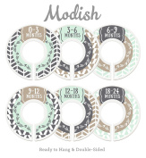 Modish Labels Baby Nursery Closet Dividers, Closet Organisers, Nursery Decor, Baby Boy, Woodland, Arrow, Tribal, Mint, Tan, Taupe, Beige