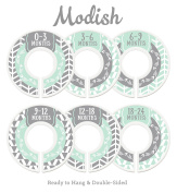 Modish Labels Baby Nursery Closet Dividers, Closet Organisers, Nursery Decor, Baby Boy, Woodland, Arrow, Tribal, Mint, Grey