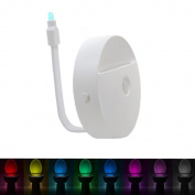 ShineMe Colourful Toilet Motion LED Nightlight, Body Induction Night Lights, Sensor Activated Human Body Lamp 8 Colours Changing Light Detection for Children Adults