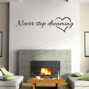 "LandFox ""Never Stop Dreaming"" Removable Home Room Decor Wall Stickers"