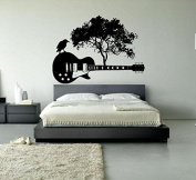 Wall Window Sticker Decal Electric Guitar Music Band Tree Roots Rock Music Boys Teenager Room decor 1185b