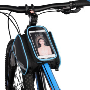 VertAst Bicycle Frame Bag Front Top Tube Touchscreen Phone Bag Waterproof Reflective Bike Frame Pannier Pouch for Bike Tools Iphone Samsung HTC