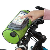 ZHIZU Waterproof Bicycle Front Top Frame Tube Handlebar Bag Smartphone Storage Holder With Touchscreen transparent PVC Bicycle Phone Holder For Riding Travel Outdoor Activities