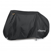 Bike Covers, Beeway® Heavy Duty Waterproof Bicycle Dust Rain Cover Indoor Outdoor Protection - 210D Oxford Fabric, Elasticated Hems, Safety Buckle, Lock-holes - Perfect Fit for 1 or 2 Bikes