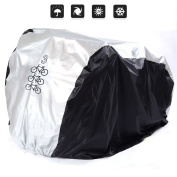 SEEU Bike Cover For 1 Bike, 2 Bikes or 3 Bikes 190T Nylon Waterproof All Weather Dust Resistant UV Protection Bicycle Cover