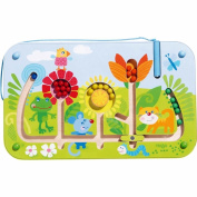 HABA Flower Maze Magnetic Game - STEM Approved Fosters Motor Skills and Assignment of Colour .