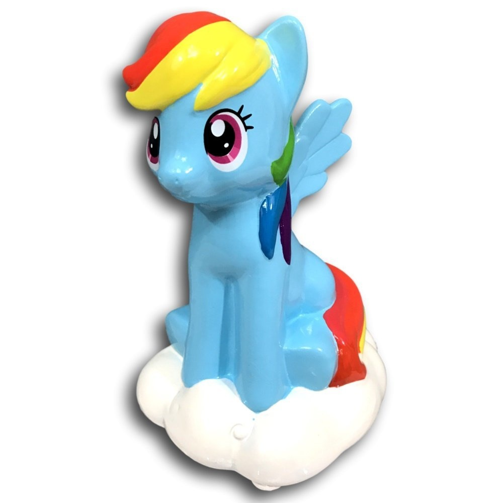 My Little Pony Rainbow Dash Pig Piggy Bank Girl Ceramic By Mlp
