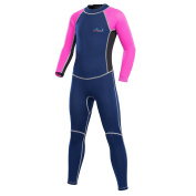 Neoprene Wetsuits for Kids Boys Girls Back Zipper One Piece Swimsuit UV Protection-Brand NatyFly