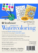 Strathmore Designs for Watercoloring Flower