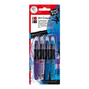 Marabu Art Crayon Set Blue Ocean