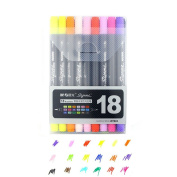 lobezm Art and Graphic Drawing Manga Twin Tip Brush Sketch Marker Pen 12 18 24 Colours