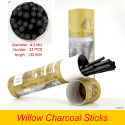 Artist Willow Charcoal Sticks Water Basic Natural Charcoal Piece 25 PCS