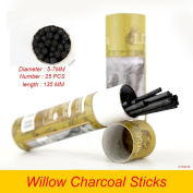 Artist Willow Charcoal Sticks Water Basic Natural Charcoal Piece 25 PCS