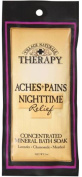 Village Naturals Therapy Aches+Pains Nighttime Relief Concentrated Mineral Bath Soak Lavender,Chamomile,Menthol