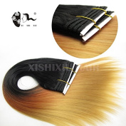 Mixed Colour 50cm 100G Synthetic Ombre Hair Weave/Synthetic Hair Weft In Ombre Colour/Colourful Synthetic