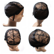 Ali Funmi Professional Lace Wig Caps for Making Wig Hair Net with Adjustable Straps and Combs Swiss Lace
