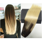 TheFashionWay New Version Thickened 70g- 14 16 18 50cm 8pieces Real Human Hair Extensions Clip in Silky Straight Weft Remy Hair Ultra Thick (50cm , #