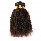CLAROLAIR Unprocessed Brazilian Virgin Hair Extensions Real Hair Weft Afro Kinkys Curly Virgin Hair Brazilian Curly Human Hair Dark Brown 2# Colour Mixed Length 8-70cm (100+/-5g)/pc